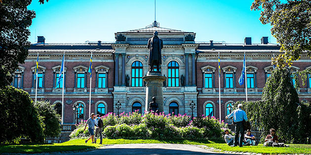 The Main University Building in Uppsala.