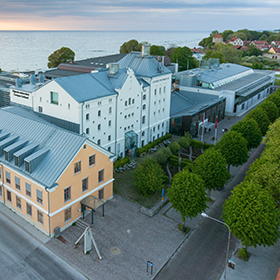Aerial view of Campus Gotland.