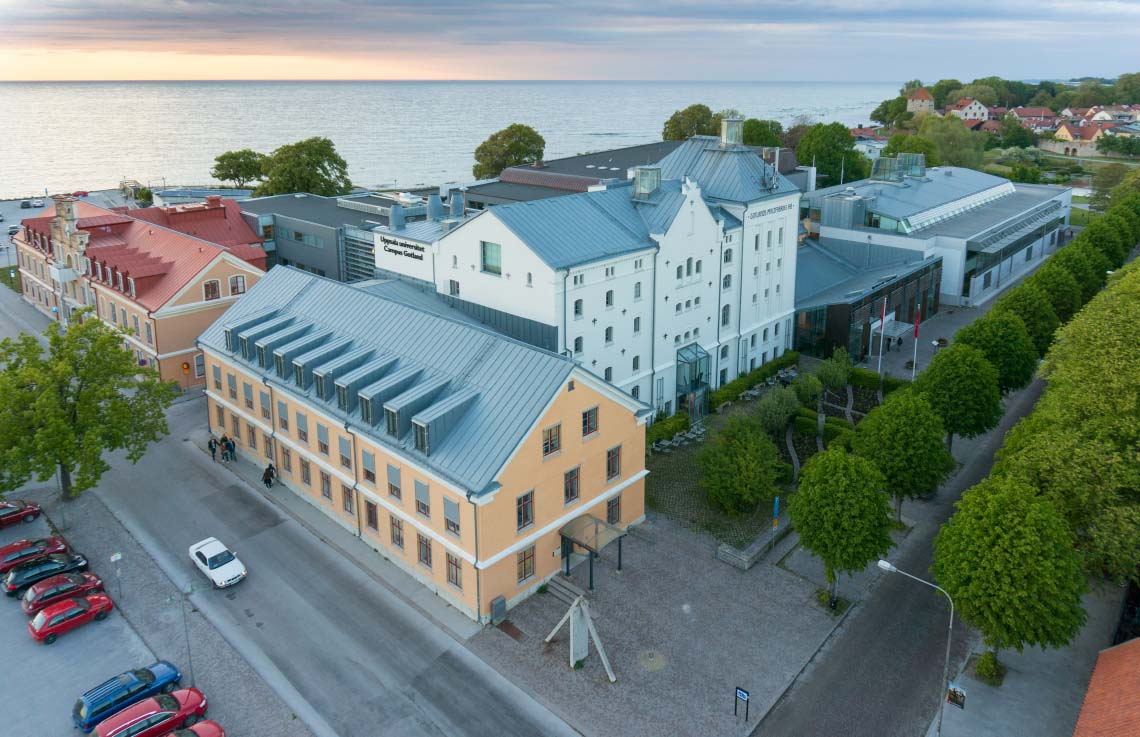 An arial view of Campus Gotland